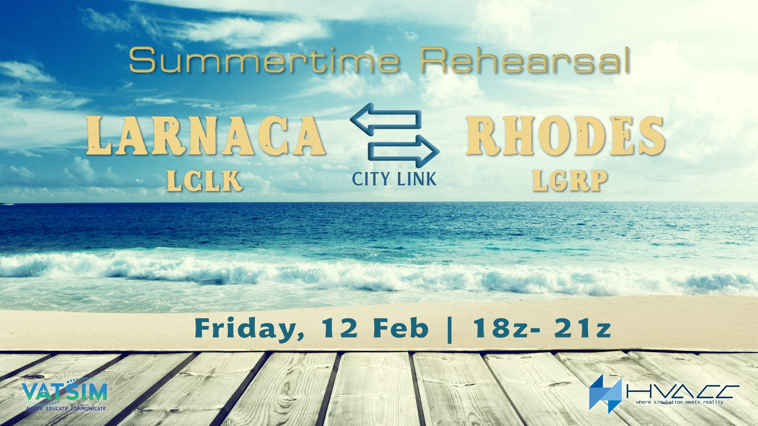 Larnaca - Rhodes City Link | Friday 12 Feb| 20:00 - 23:00 local