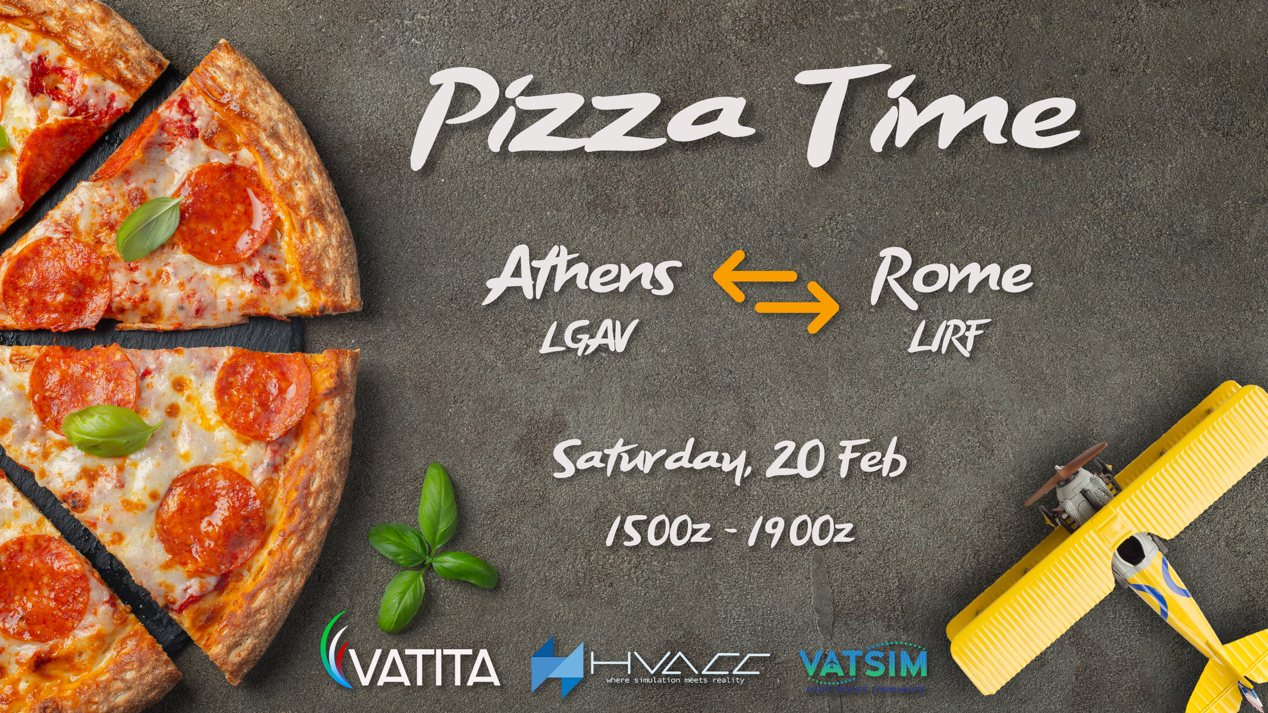 Pizza Time! Rome-Athens City Link | Saturday 20 Feb| 17:00 - 21:00 local